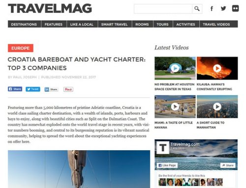 SkipperCity among top 3 yacht charter companies in Croatia by TravelMag
